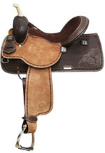Showman Barrel Racing Saddle 6532 - Western Horse Saddles - Cross Conchos