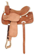 Royal King Flash Barrel Saddle RK3145 - Barrel Racing saddles - Western Horse Saddles
