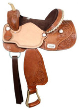 Double T Barrel Racing Saddle Flex Tree 327 - Western Saddle