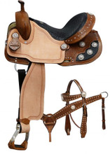 Double T Barrel Racing Saddle Set 041X - Western Saddles