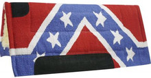 Showman Saddle Pad Confederate Rebel Flag 6130 - Western Tack