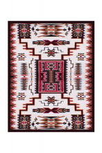 Western Area Rug With Southwestern Design
