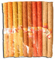10 Inch Long x 30mm Diameter Mixed Natural & Beef Munchie Logs 10/bag
