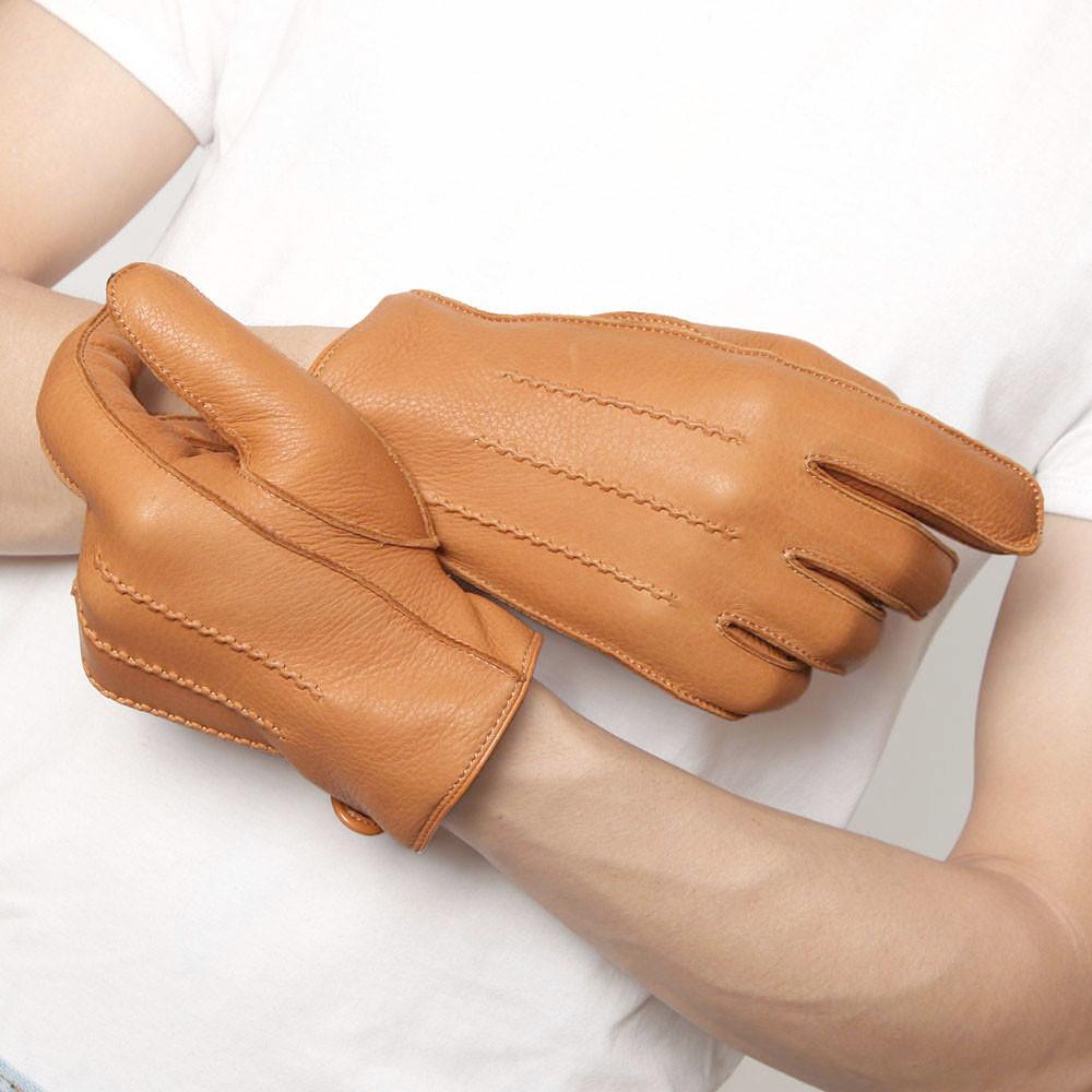2fdad551414 ELMA Brand Men's Deerskin Leather Winter Driving Cashmere Lined Gloves 3  colors available EM012WR