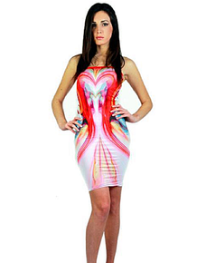 Letube Onde Di Colore Love Convertible Tube Dress