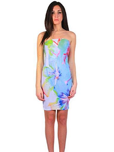 Letube Flowers Fluid Convertible Tube Dress