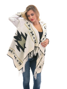 Elan Aztec Cardigan Cream