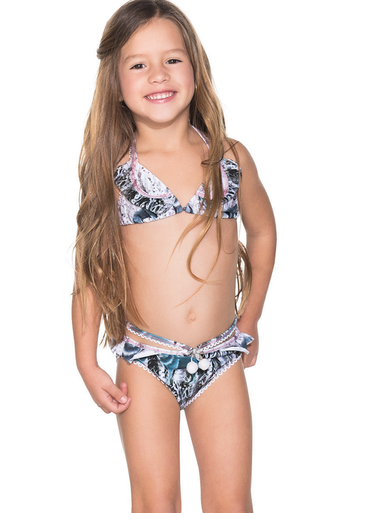 ccc7cbe17f6b6 Agua Bendita Kids Bendito Wolf Bikini Set
