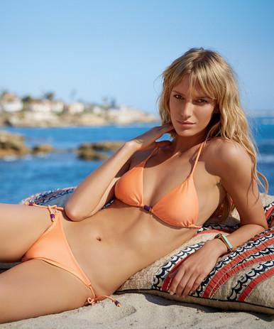 Vix Swimwear Sherbert Triangle Detail Bikini Set