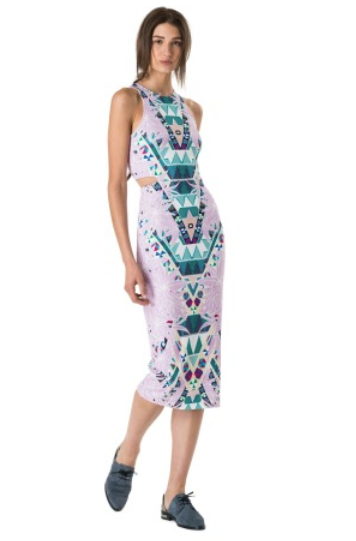 Mara Hoffman Ponte Cutout Midi Dress Maristar Lilac Shop Boutique