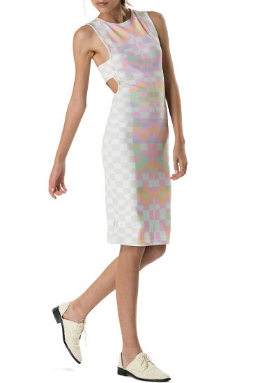 Mara Hoffman Ponte Cutout Midi Dress Receptor Citrus Print Shop