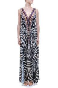 Parides Safari Long Dress
