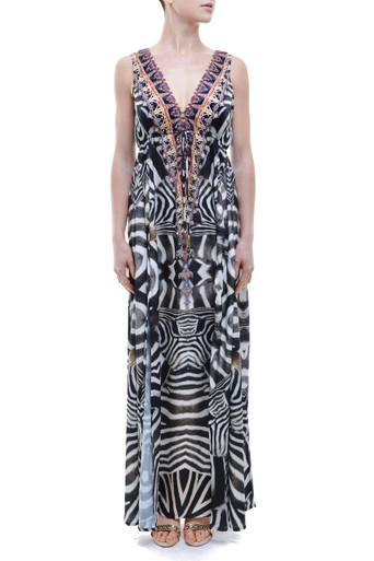 Parides Safari Long Dress