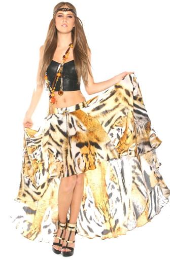 Parides High Low Skirt Bengai Tiger