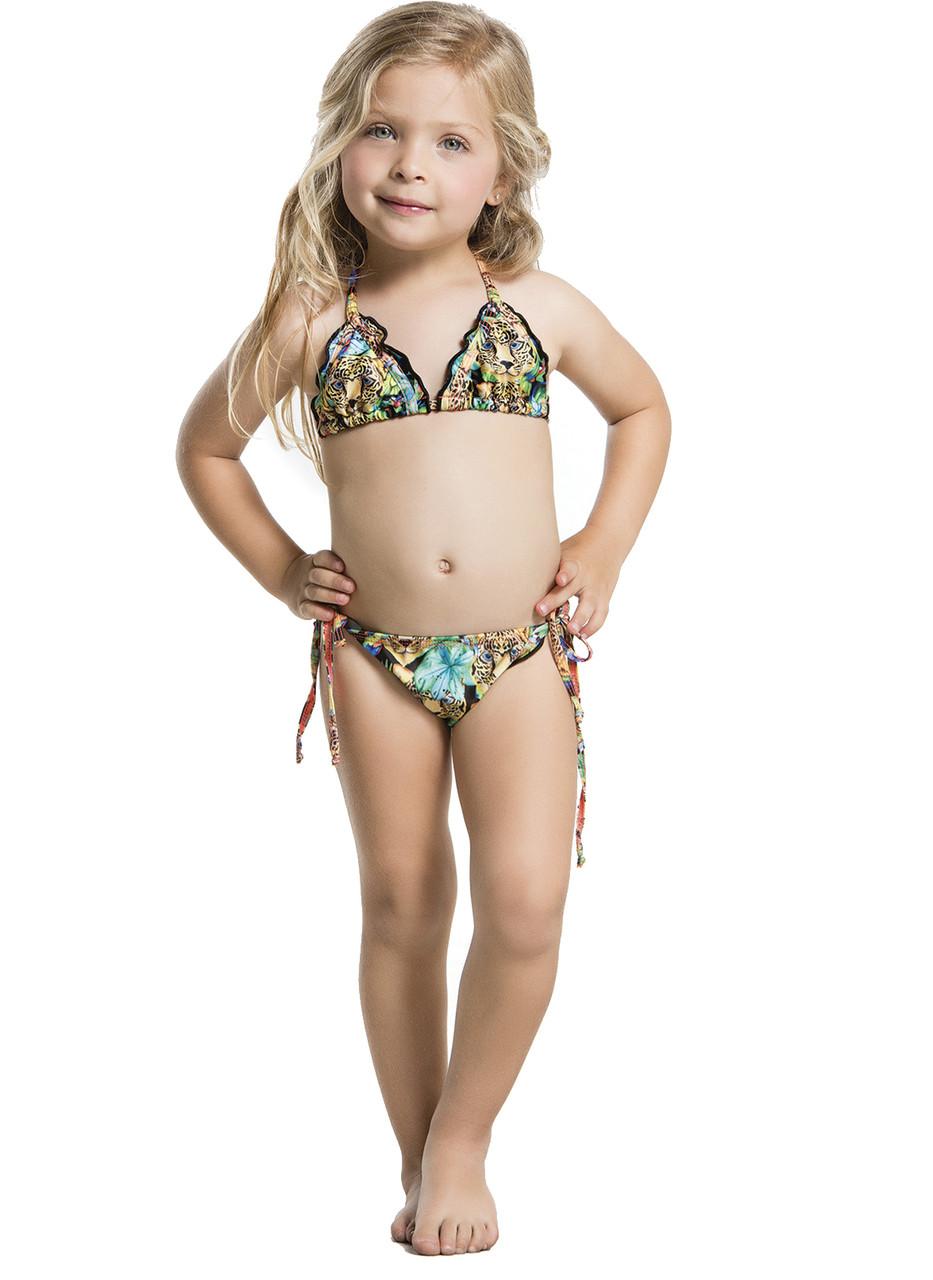 4354d8f7a6e37 2016 Agua Bendita Kids Bendito Leopardo Bikini Set. Loading zoom