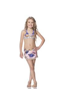 Maaji Kids Sheer Cotton and Lilac Skirt