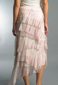 Tempo Paris 6582SO Silk Angled Tiered Skirt Mauve