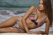 PilyQ Utopia Halter Bikini Set African Rays