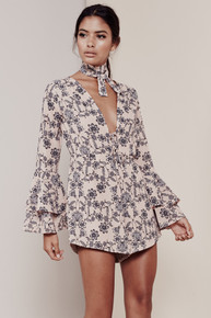 For Love and Lemons Pia Romper Pale Peach