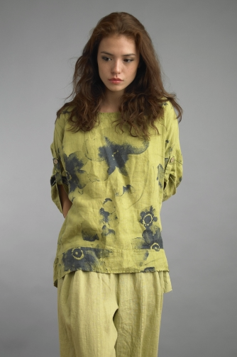 Tempo Paris Linen Top 4357SO Citron