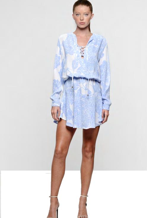 c09f7409823ff Karina Grimaldi Carol Print Mini Dress Perwie Stone | Shop Boutique ...