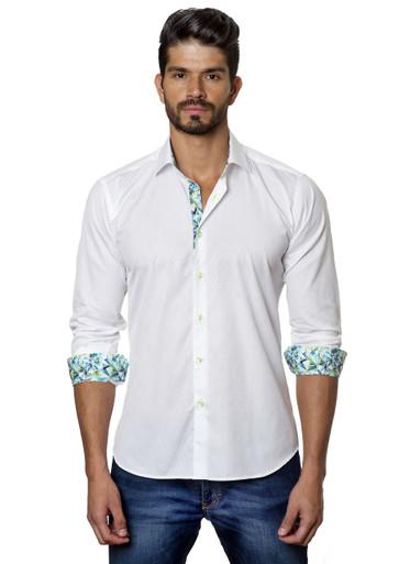 Jared Lang Button Down Shirt T-43 White