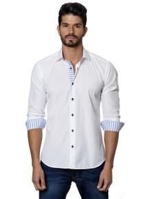 Jared Lang Button Down Shirt T-12 White Nautical