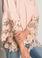 Muche et Muchette Jolie Off the Shoulder Double Lace Top Blush