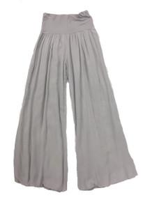 Tempo Paris 11211SO Flowy Silk Blend Pants Silver