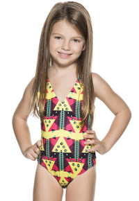 Agua Bendita Bendito Nina Collage One Piece Swimsuit