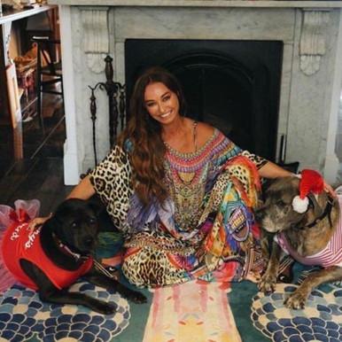 Camilla wearing Kingdom Call Long Round Neck Kaftan