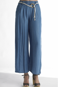 Tempo Paris 2020 Chambray Ankle Loose Pant Denim