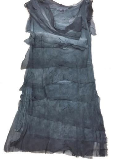 Tempo Paris 6206JL Silk Tiered Dress Dark Denim