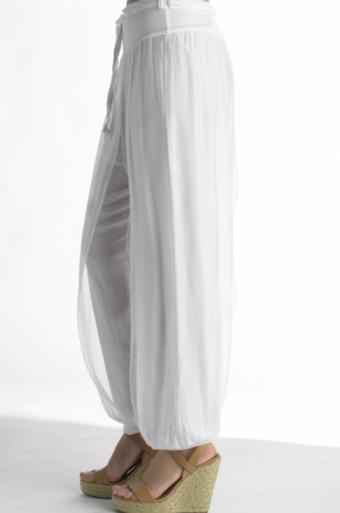 Tempo Paris 4800T Silk Pant White