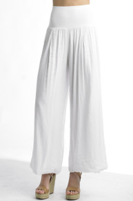 Tempo Paris 11211SO Flowy Silk Blend Pants White