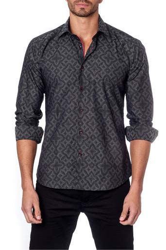 Jared Lang Button Down Shirt Louis Black