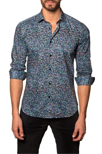 Jared Lang Button Down Shirt Monet Blue