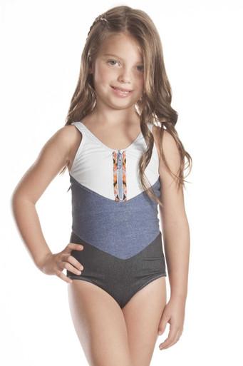 Agua Bendita Bendito Mezclilla Nina One Piece Swimsuit