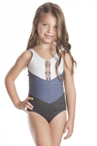 Agua Bendita Bendito Mezclilla Nina One Piece Swimsuit
