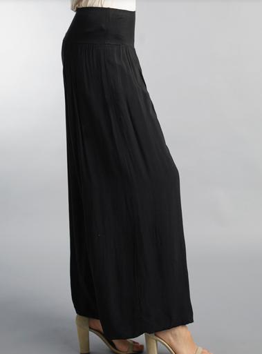 Tempo Paris 11211SO Flowy Silk Blend Pants Black