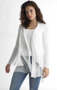 Tempo Paris Jersey Silk Jacket 2802 Ivory