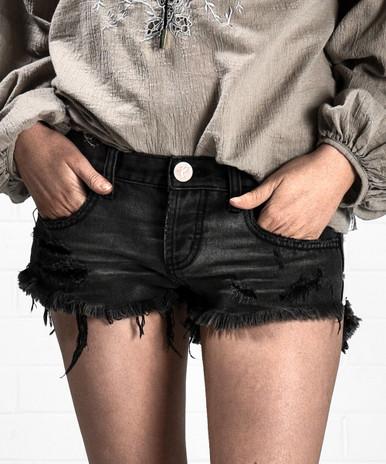 One Teaspoon Coal Bonita Cutoff Shorts