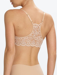 Commando BRA204 Double Take Racerback Bra Ivory