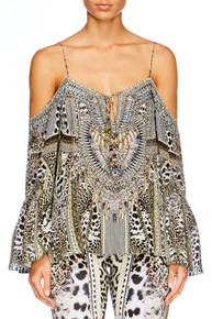 Camilla Animal Instinct Drop Shoulder Top