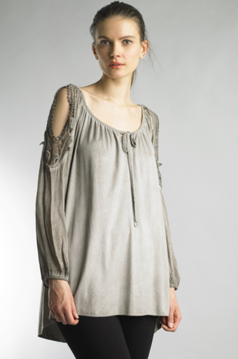 Tempo Paris 07765MG Raglan Top Taupe