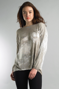 Tempo Paris 11665FO Knit Long Sleeve Top Taupe