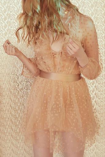 For Love and Lemons All That Glitters Mini Dress