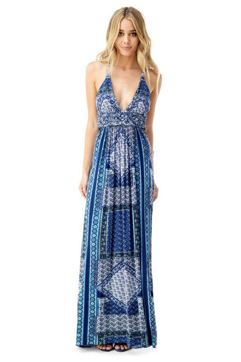 Sky Truidy Maxi Dress Blue