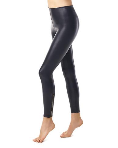 Commando Perfect Control Faux Leather Zip Legging Black