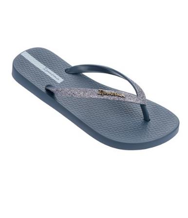 2018 Ipanema Glitter II Flip Flops Blue Silver